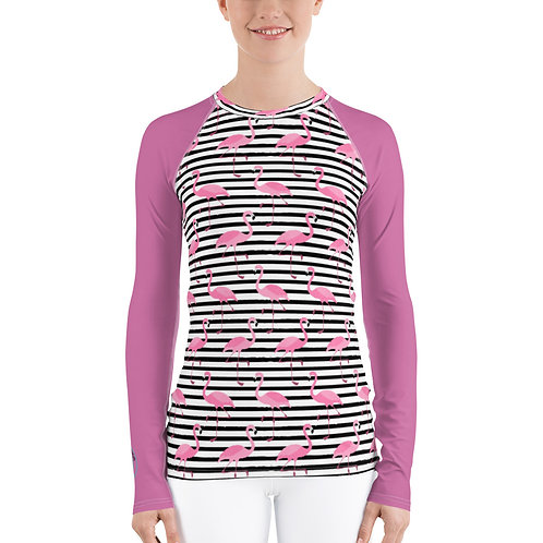 Flamingos Seeing Stripes Sunlover Swim Shirt