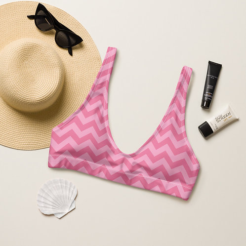 Pink Zags Playa Perfect Bikini Top