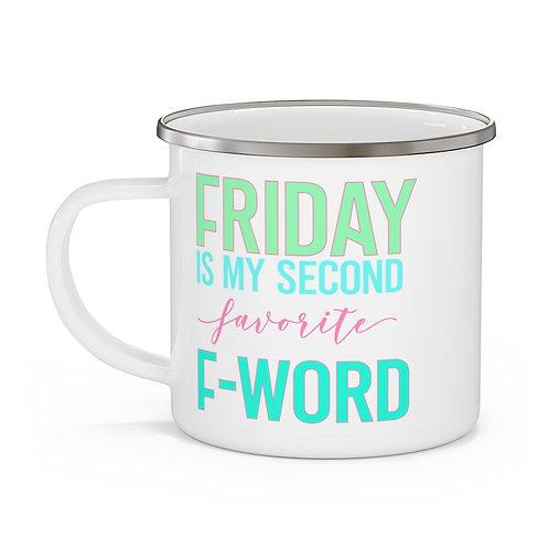 Friday Enamel Beach Mug
