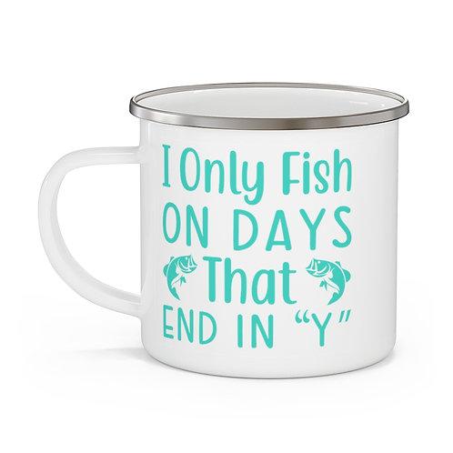 Fishing Days Enamel Beach Mug
