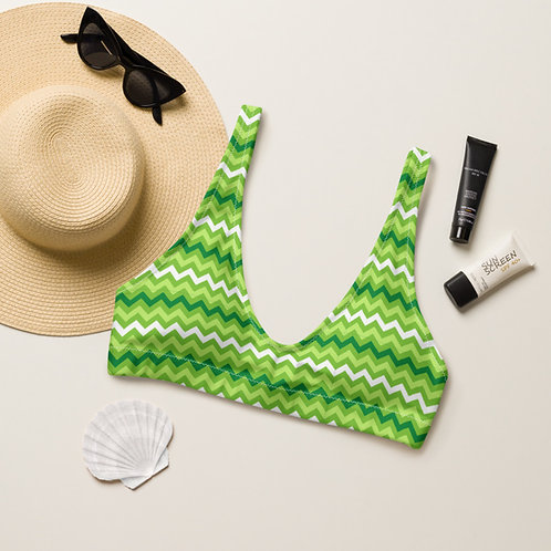 Greenzee Stripes Playa Perfect Bikini Top