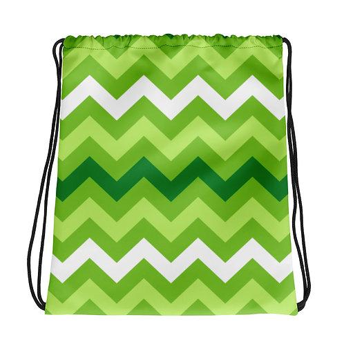 Greenzee Stripes La Ropa Drawstring Bag