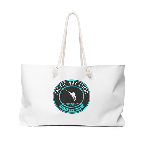 White StayPV Big Logo La Ropa Beach Bag