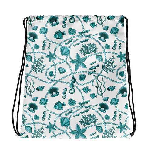 Teal Baylife La Ropa Drawstring Bag