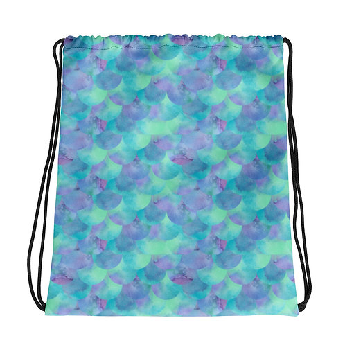Azul Mermaid La Ropa Drawstring Bag