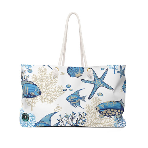Blue Sealife La Ropa Beach Bag