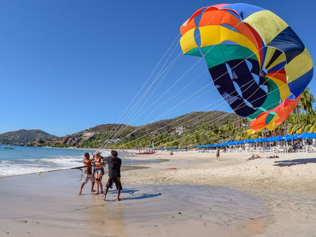 Flying High Over Zihuatanejo Bay