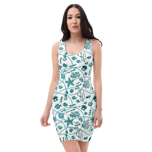 Teal Baylife Calle Mini Dress