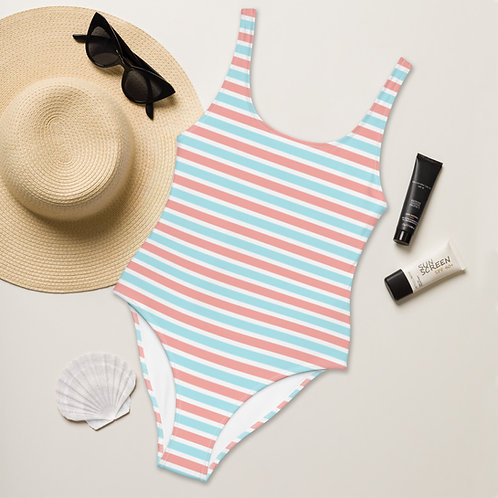 Pinklue Stripes Playa Perfect One-Piece Swimsuit