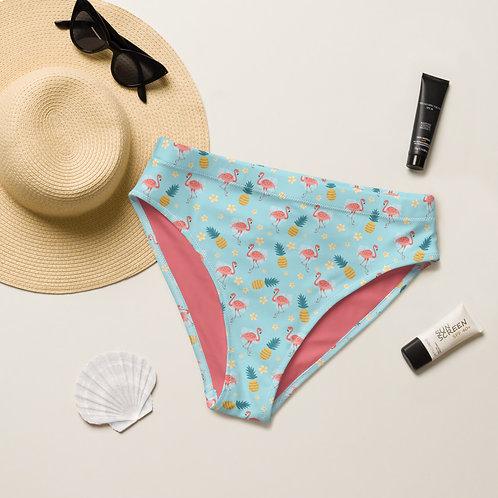 Pinklue Flamingos Play Perfect Bikini Bottom