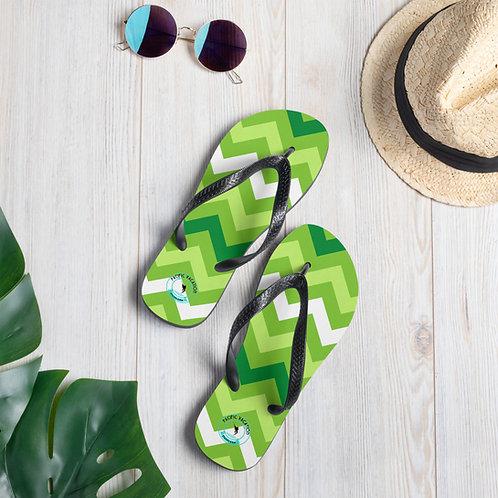 Greenzee Stripes Off the Playa Flip-Flops