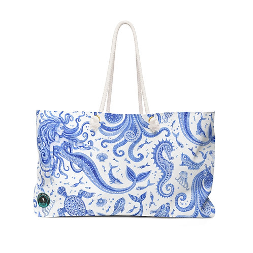 Blue Mermaid La Ropa Beach Bag