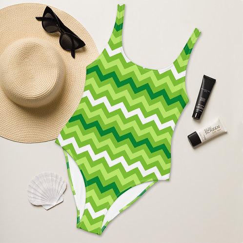 Greenzee Stripes Playa Perfect One-Piece Swimsuit