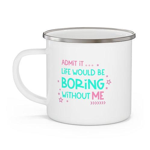 Admit It Enamel Beach Mug