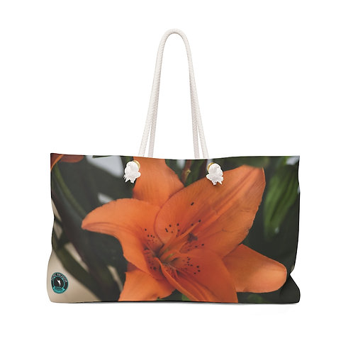 Orange Lily La Ropa Beach Bag