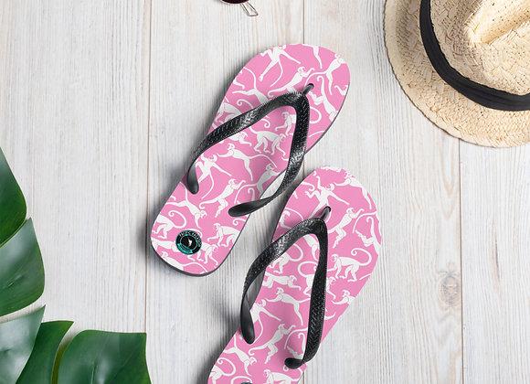 Chasing Pink Monkey Flip-Flops