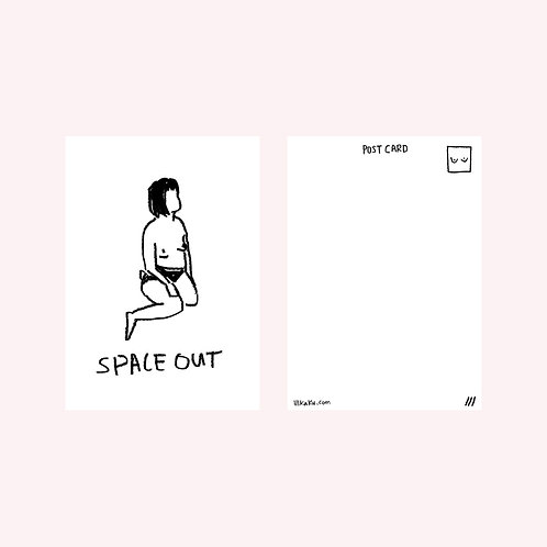 space out postcard