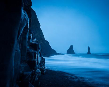 Reynisfjara in twilight