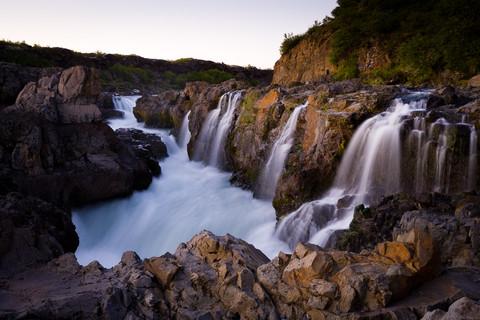 Barnafossar falls