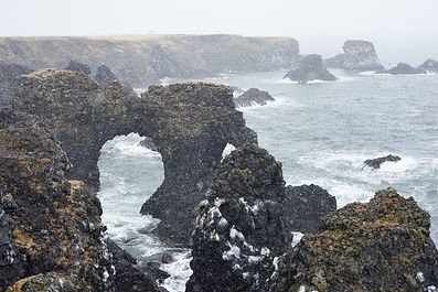 Gatklettur Arch at Arnarstapi, Snæfellsnes Peninsula, Iceland.