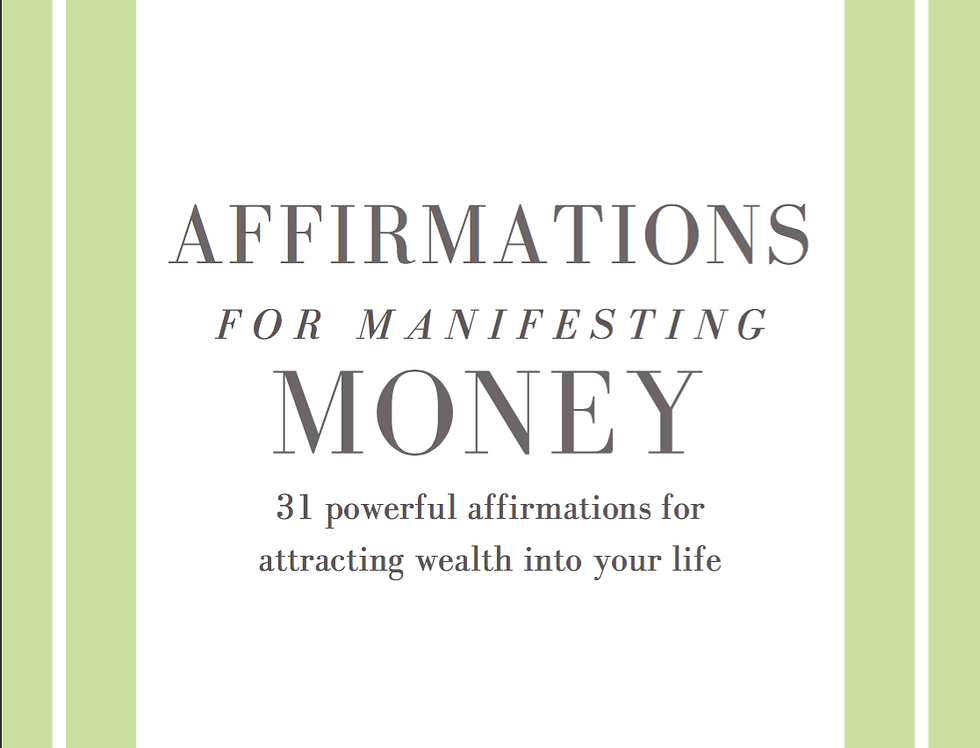 Affirmations for Manifesting Money Ebook