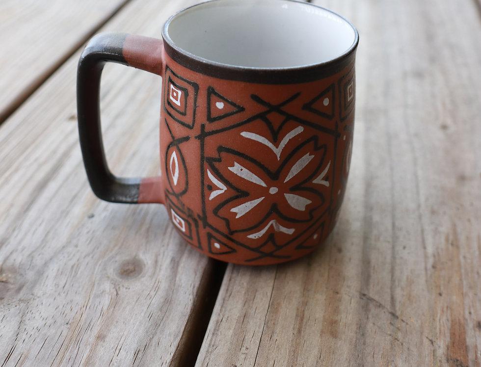 Handpainted Enamel Mug