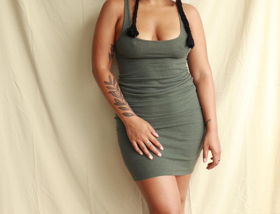 Olive Body Dress