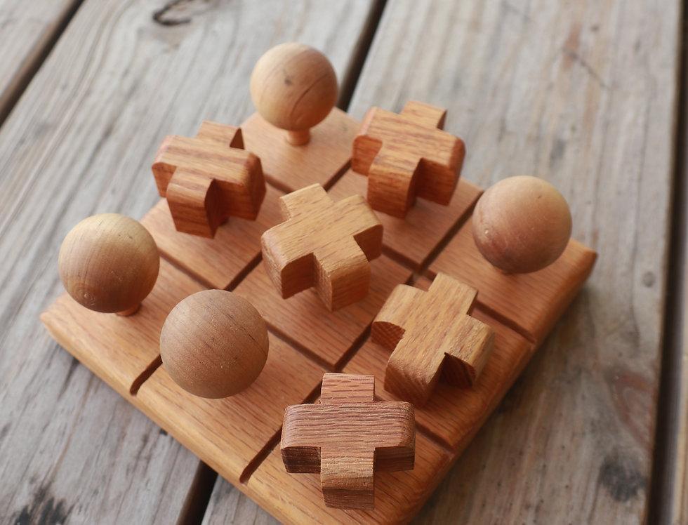 Wooden Tic-Tac-Toe Set