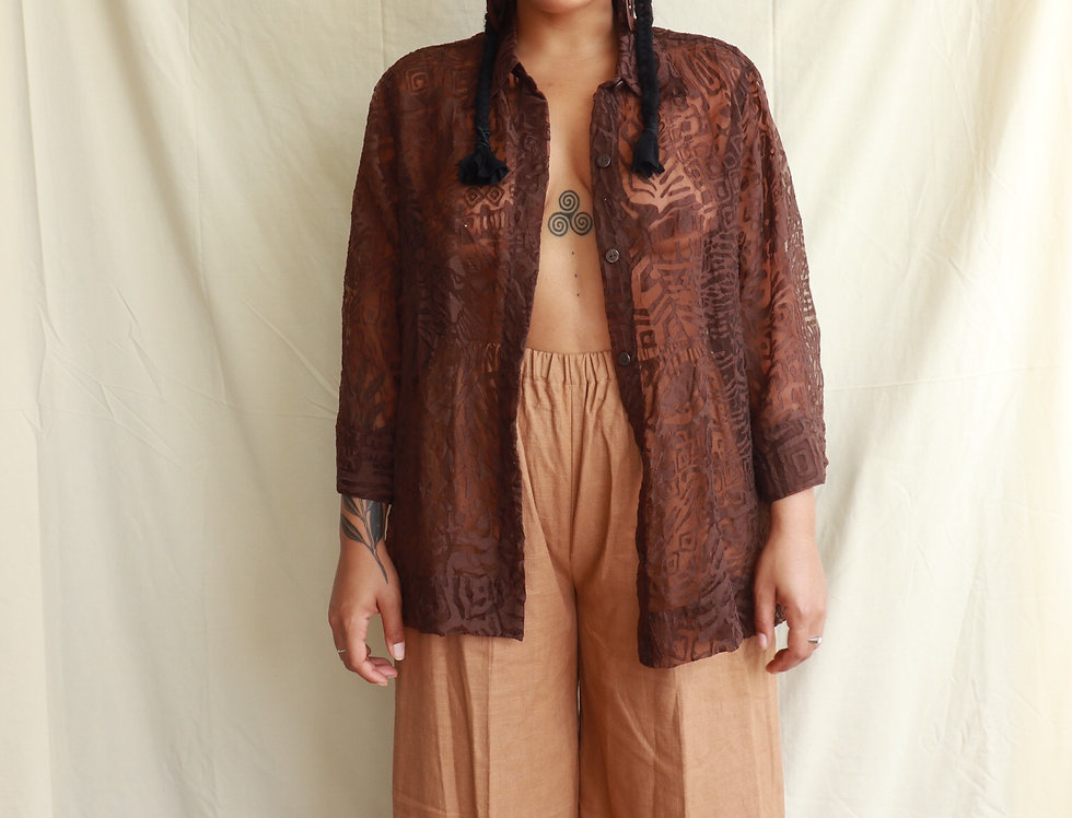 Sheer Tribal Blouse