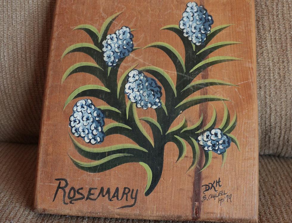 Rosemary 70's Wooden Art