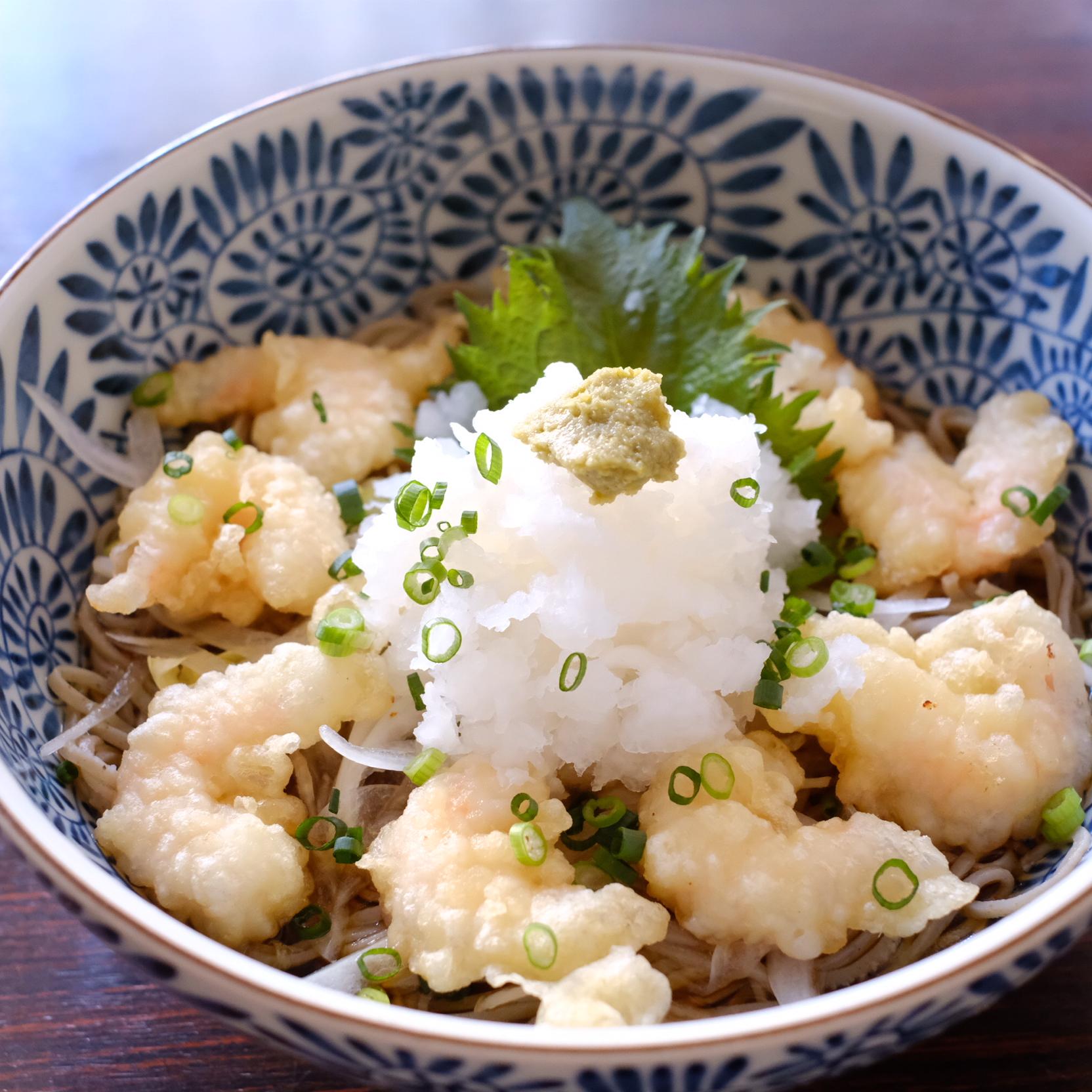 小海老天ぷらおろし蕎麦