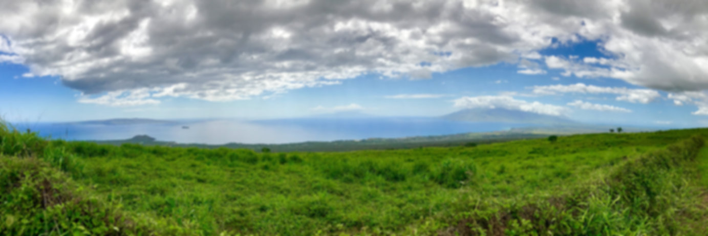 The view from Upcountry.  You can see Red Hill, Molokini and Kaho'olawe on the left, Lanai toward the center and West Maui to the right.
