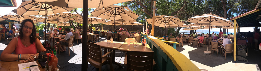 A tasty and inexpensive little find in Lahaina.  The Aloha Mixed Plate, right on the water.