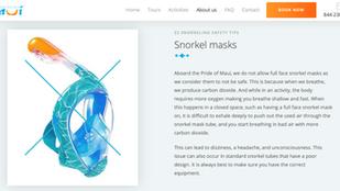 Do Not Use Full Face Snorkel Masks