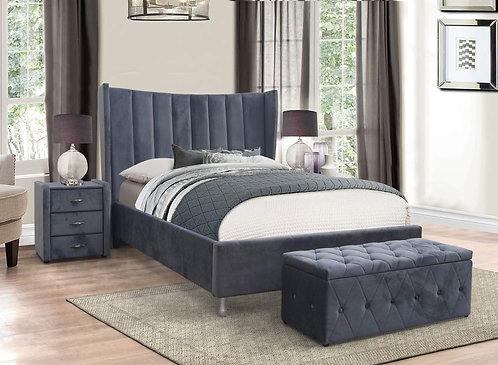 Aurora Grey Bed