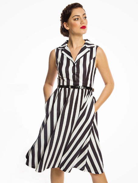 Matilda Black & White Shirt Dress from Lindy Bop