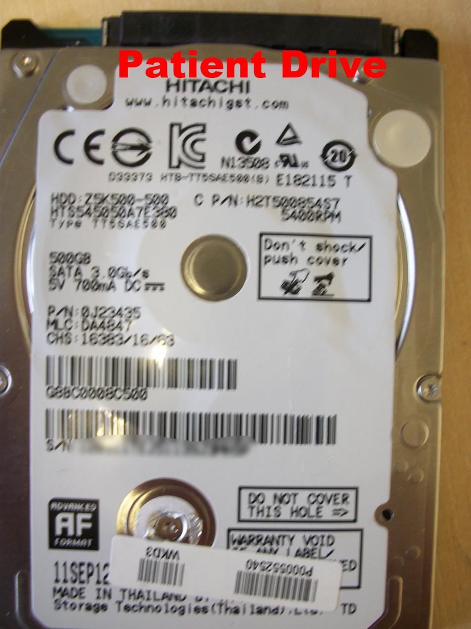 Hitachi HTS54540A7E380 Data recovery