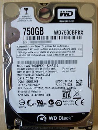 Western Digital WD7500BPKX-22HPJT0 Data Recovery