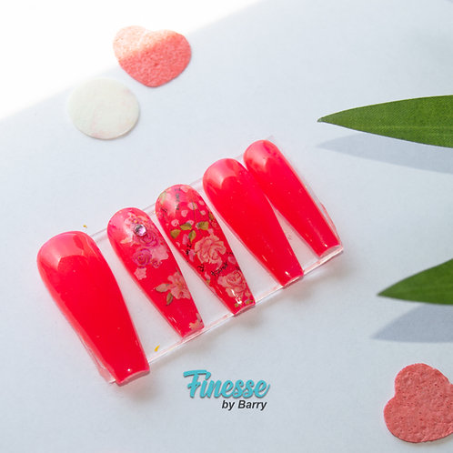 "Finesse ""Cherry Blossom"" Full Set Press Ons"