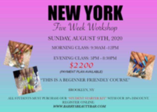 Beginner's 5 week workshop (AUGUST 2020)
