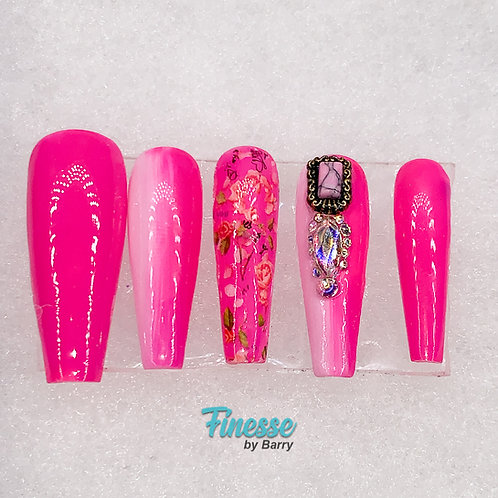"Finesse ""Pinky's Glam"" Full Set Press Ons"