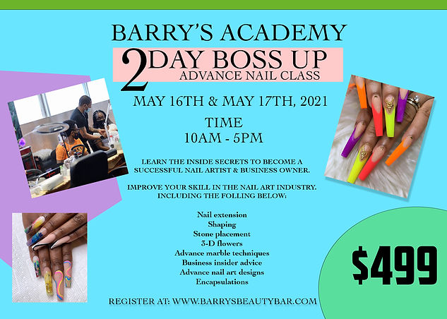 BARRYS ACADEMY 2 day workshop MAY 16 17