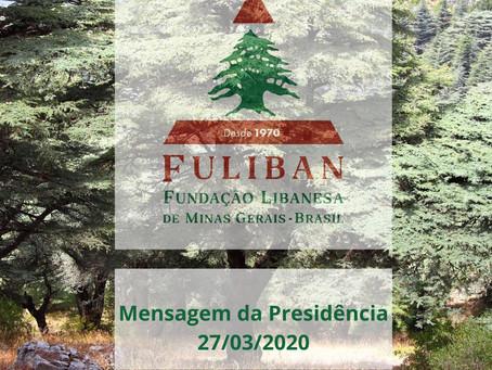 Caros amigos, voluntários, conselheiros e colaboradores da Fuliban