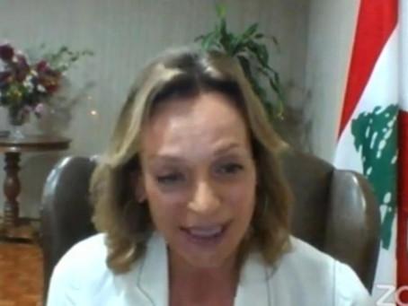 Embaixadora do Líbano Carla Jazzar defende Tratado de livre comércio entre Líbano e Mercosul