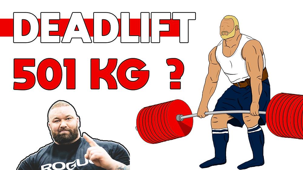 Deadlift 501 kg par Thor