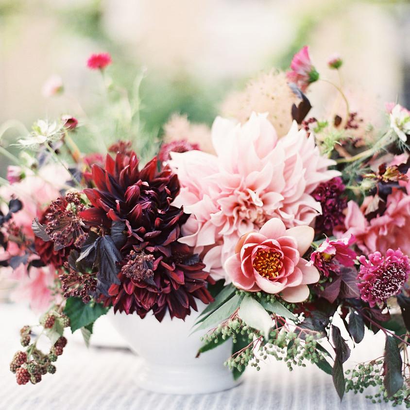 Flower Arranging - Lush & Luxe Centerpiece