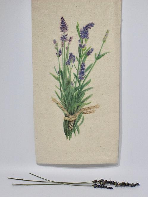 Lavender Watercolor Tea Towel