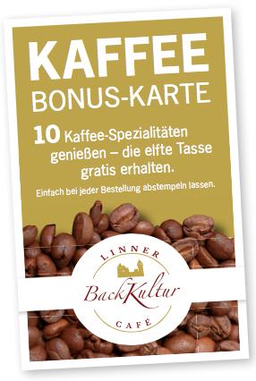 Kaffee Bonus-Karte Linner Backkultur