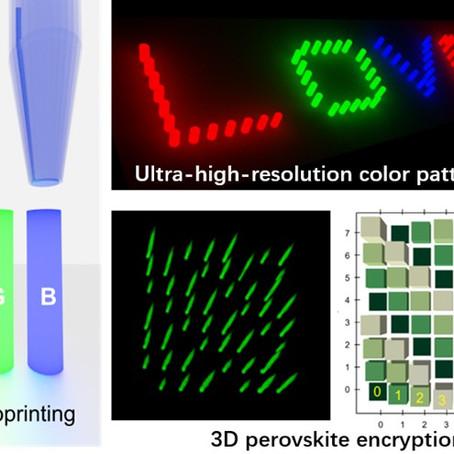 3D printed nanopixels: finer, brighter, and smarter