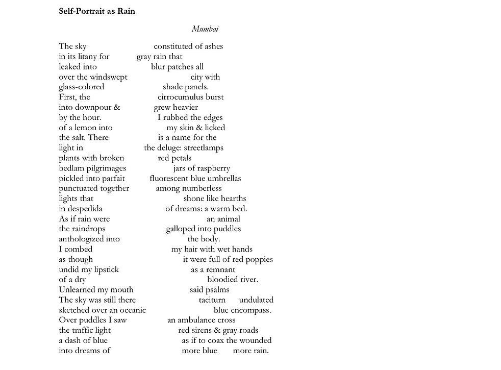 Submramanian Kanta-Self-Portrait as Rain